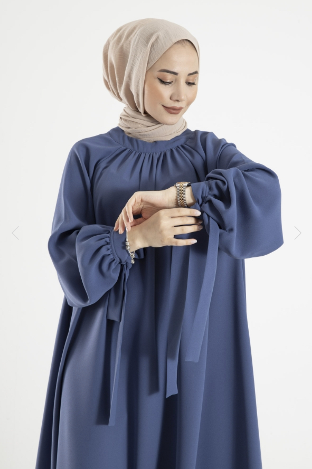 Owersize Krep Elbise